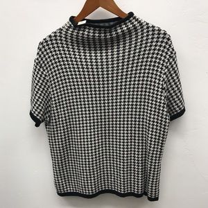Houndstooth Top - M